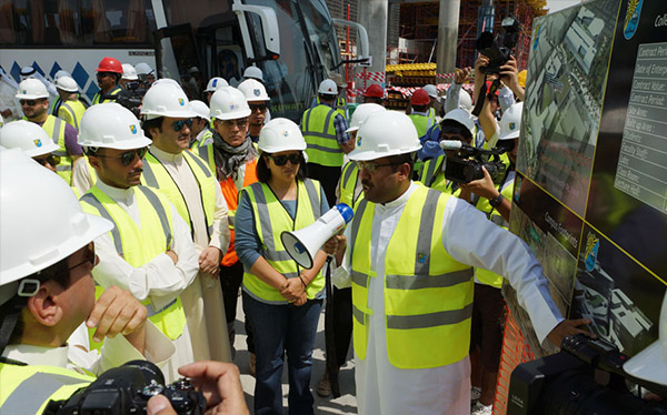 The Speaker of Kuwait National Assembly visited the site of Sabah Al-Salem University City