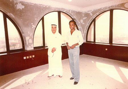 Mr. Hamad Alghanim with Yohannes Kahsay