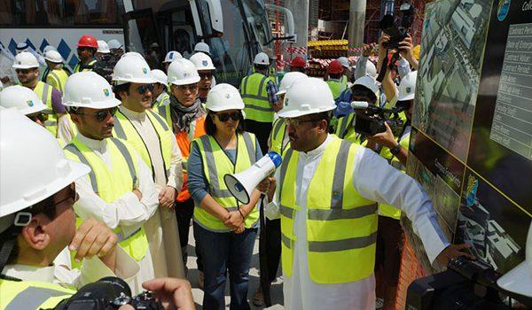 The Speaker of Kuwait National Assembly visited the site of Sabah Al-Salem University City